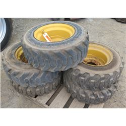 Qty 5 Big Boy Tires with Rims, 10x16.5