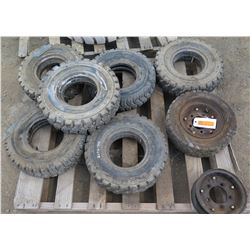 Pallet of Misc. Forklift Tires