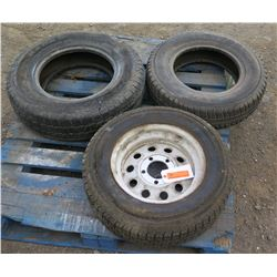 Qty 3 Tires (1 with Rim)