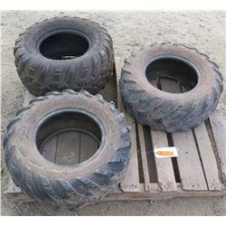 Qty 3 UTV Tires