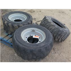Qty 3 Extra-Wall Tires 12-16.5 (2 with Rims)