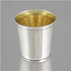 Antique French Christofle Silver Plated, Gilded Cordial Cup