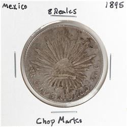 1895 Mexico 8 Reales Silver Coin Chopmarks