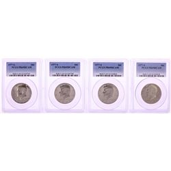 Lot of (4) 1977-S Proof Kennedy Half Dollar Coins PCGS PR69DCAM