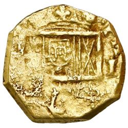 Seville, Spain, cob 1 escudo, Philip III, assayer not visible.