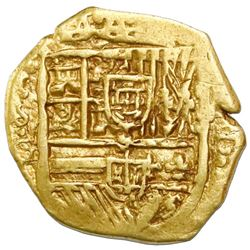 Seville, Spain, cob 2 escudos, Philip III or IV, 162(0-4), assayer G.