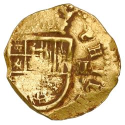 Seville, Spain, cob 2 escudos, Philip III or IV, assayer not visible.