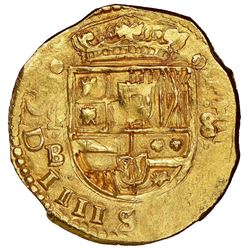 Madrid, Spain, cob 8 escudos, Philip IV, 1642B, retrograde 4 in date, no stops in obverse legend, ra