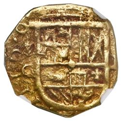 Seville, Spain, cob 1 escudo, Philip IV, 1624G, rare (unlisted), NGC AU 55, finest and only example