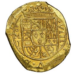 Mexico City, Mexico, cob 8 escudos, 1714J, Royal dies on both sides (very rare), NGC MS 65, finest k