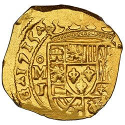 Mexico City, Mexico, cob 4 escudos, 1715J, NGC MS 62, ex-1715 Fleet (designated on special label), e