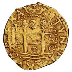 Lima, Peru, cob 2 escudos, 1705H, rare, NGC AU 58, ex-1715 Fleet (designated on special label).