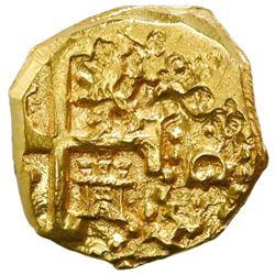 Cuzco, Peru, cob 2 escudos, 1698M, small flan, NGC MS 62, ex-1715 Fleet (designated on special label