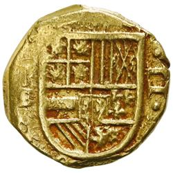 Cartagena, Colombia, cob 2 escudos, 1631E, mintmark-assayer to left, NGC AU 55, finest known in NGC