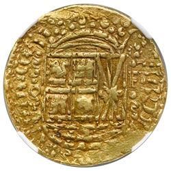 Bogota, Colombia, cob 8 escudos, 1750/49S, assayer S above denomination 8 to left, mintmark F-S to r