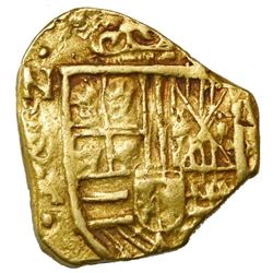 Bogota, Colombia, cob 2 escudos, Philip IV, assayer A below mintmark NR to left, with dots outside a