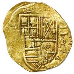 Bogota, Colombia, cob 2 escudos, (16)48, assayer R below denomination to right, rare.