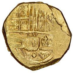 Bogota, Colombia, cob 2 escudos, Charles II, assayer not visible (G), NGC MS 62, ex-1715 Fleet (desi