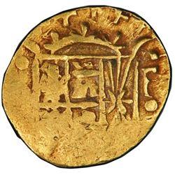 Bogota, Colombia, cob 1 escudo, Ferdinand VI, assayer S to left, mintmark F(S) to right, PCGS XF45.