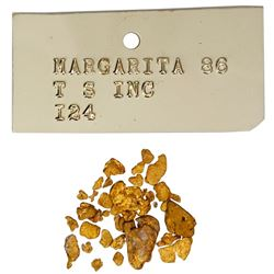 Lot of 2.5 grams' worth of natural gold flakes, ex-Santa Margarita (1622).