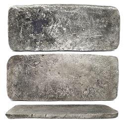 "Silver ""tumbaga"" bar #M-134, 14.63 lb av, marked with fineness IUBLXXV (1575/2400), plus serial numb"