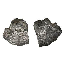 """Small silver """"plata corriente"""" piece, 23.37 grams, no markings."""