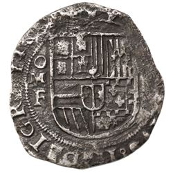 Mexico City, Mexico, cob 8 reales, Philip III, assayer F.