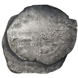 Clump of two cob 8 reales (one Mexico, one Potosi), probably Philip III, assayers not visible, ex-Jo