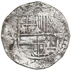 Potosi, Bolivia, cob 8 reales, Philip III, assayer Q, no Grade on certificate (Grade-1 quality).