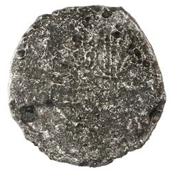 Potosi, Bolivia, cob 8 reales, Philip III, assayer T, Grade 4.