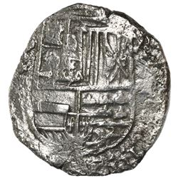 Potosi, Bolivia, cob 8 reales, Philip III, assayer not visible, no Grade on certificate (Grade-1 qua