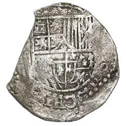 Potosi, Bolivia, cob 8 reales, Philip III, assayer not visible, Grade 2, ex-Hebert.