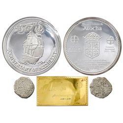 Promotional 375th anniversary presentation set consisting of one Potosi, Bolivia, cob 8 reales, Phil