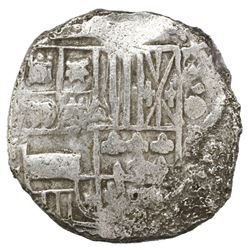 Potosi, Bolivia, cob 4 reales, Philip III, assayer not visible, Grade 3.