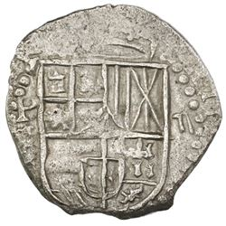 Potosi, Bolivia, cob 2 reales, 1617(M), Grade 1.