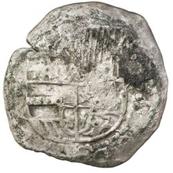 Potosi, Bolivia, cob 8 reales, Philip III, assayer not visible, ex-Jones (Plate Coin).