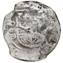 Mexico City, Mexico, cob 8 reales, Philip III, assayer D/F (ca. 1618), Grade 2, NGC Shipwreck Effect