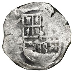 Mexico City, Mexico, cob 4 reales, Philip III, assayer D/F (ca. 1618), NGC shipwreck effect / Sao Jo
