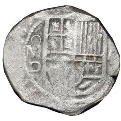 Mexico City, Mexico, cob 4 reales, Philip III, assayer D, NGC shipwreck effect / Sao Jose.