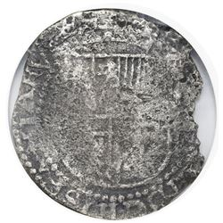 Set of two Potosi, Bolivia, cob 8 and 4 reales, Philip III, assayers not visible, both NGC Sao Jose