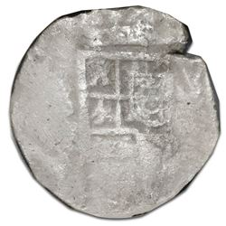Spain (mint uncertain), cob 4 reales, Philip III or IV, NGC shipwreck effect / Sao Jose, housed in p