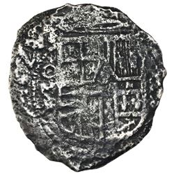 Mexico City, Mexico, cob 8 reales, 1625/4(?), assayer D.