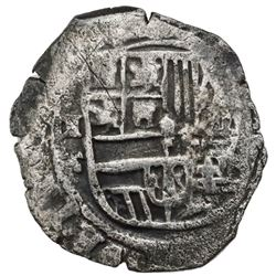 Mexico City, Mexico, cob 2 reales, Philip III, assayer F below II to left, (oM-oD) to right, very ra
