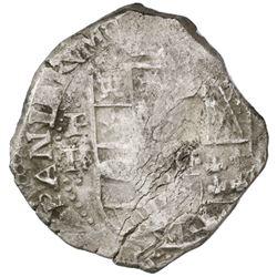 Potosi, Bolivia, cob 8 reales, Philip IV, assayer TR (ca. 1640), ex-Rudman.
