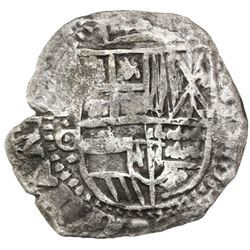 Potosi, Bolivia, cob 8 reales, 1650O, with crowned-L countermark on cross side, ex-Armstrong.