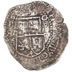 Potosi, Bolivia, cob 8 reales, (16)52E transitional Type IV/A, Mastalir Plate Coin.