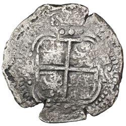 Potosi, Bolivia, cob 8 reales, 1653E, PH at top, ex-Sebring, ex-Jones (Plate Coin).
