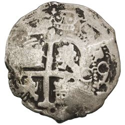 Potosi, Bolivia, cob 8 reales, 1679C, ex-Jones (Plate Coin).