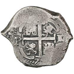 Potosi, Bolivia, cob 2 reales, 1672/1E.