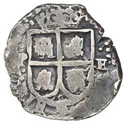 Potosi, Bolivia, cob 1 real, (1652E) Transitional, McLean Type I, rare.